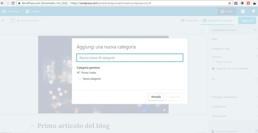 Come creare velocemente blog portfolio o sito con for Creare progetti online